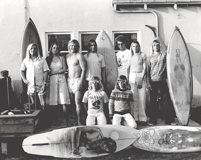 Mike Purpus and Original Hot Lips Designs Surfboards Team