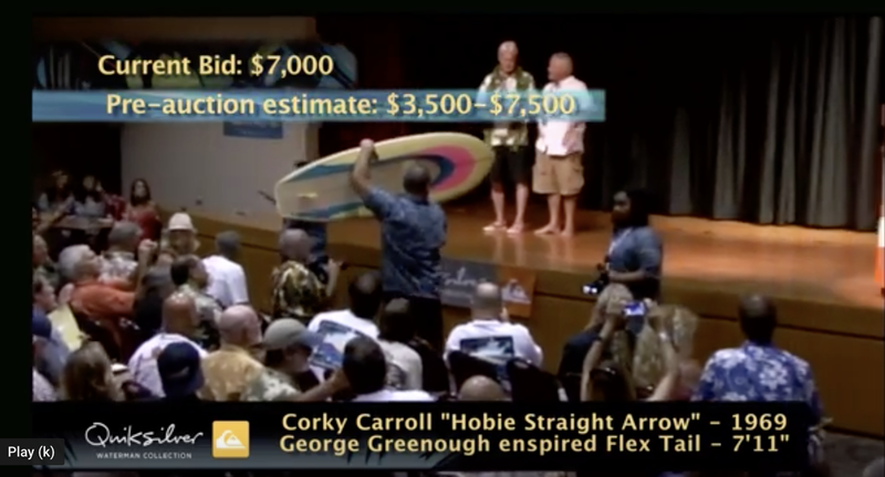 Corky Carroll's model fetches $7,000 at auction